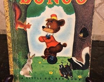 Walt Disney's 1948 BONGO Vintage Little Golden Book, Illustrated by the Walt Disney Studio