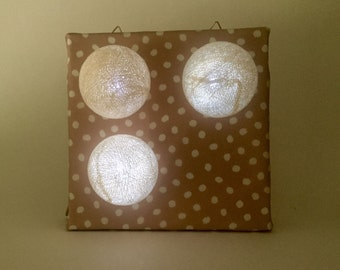 Tableau lamp (white & pink)