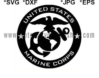US Marine Corps SVG Eps Dxf Jpeg Format Vector Design Digital Download Cutting File Silhouette Studio Cameo Cricut Design Cutting Machine