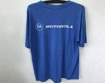 Vintage Motorola Shirt Size XL Free Shipping 50 cotton Thin Phone Shirt Spell Out Logo