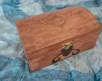 Sailor Moon jewelry box / / Jewelry box Sailor Moon / / storage box woodburned