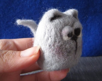 needle felted animal, felted cat ,soft sculpture, filztiere,needle felted cat, home decor, ready to ship, gift