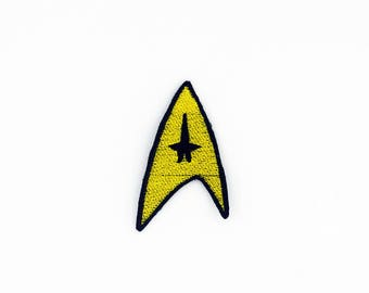 Star Trek Command Insignia Patch, Command Patch, Iron On Star Trek Patch, Fandom Patch, Cosplay Patch, Star Trek Cosplay Patch