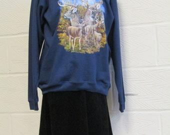 Vintage Deer Sweatshirt/ Sweater - Fruit of the Loom