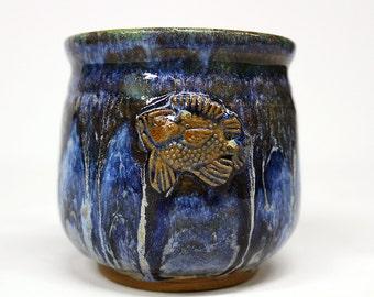 Ceramic Coffee Cup Mug - Blue Fish