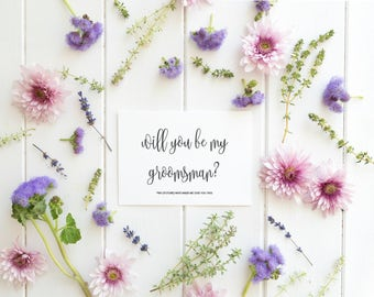 Will You Be My Groomsman Card, Asking Groomsman Card, Funny Groomsman Card, Groomsman Gift, Groomsman Proposal, DIY Wedding Invitation, PDF