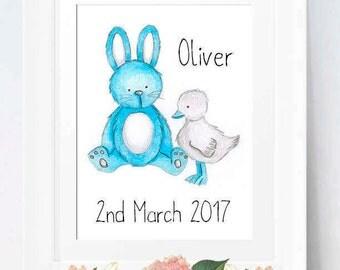 Rabbit Nursery, Rabbit Wall Art, Nursery Prints, Childrens Prints, Childrens Art, Childrens Wall Art, Rabbit Print, Rabbit, Nursery Decor
