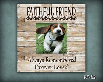 FF: Faithful Friend, Dog Lover Frame, Photo Frame, Dog Photo Frame, Pet Photo Frame, Gift, Gift For Dog Lover, Memorial Dog Frame