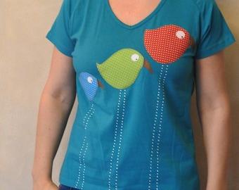 Women 39 s applique shirts etsy for Applique shirts for sale