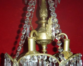 Vintage Fluer di lis crown chandelier