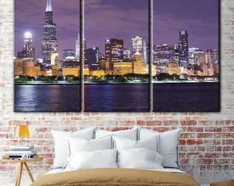 Chicago Canvas, Wall Art Chicago, Skyline Chicago, Photo Print, Chicago Wall Decor, Chicago Poster, Chicago City, Chicago Canvas Print