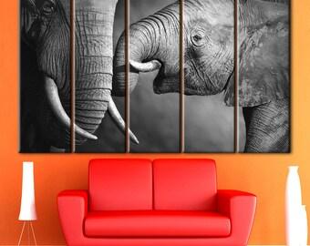 Elephant with mother, Animal nursery, black and white, Africa Art Animal, Photography Wild, Home Decor, Animal Wall Art, baby elephant