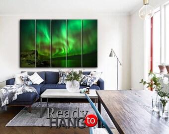 Aurora canvas, Aurora wall art, Aurora Borealis canvas, Aurora Borealis picture, Aurora Borealis art, Aurora Borealis print, Aurora Borealis