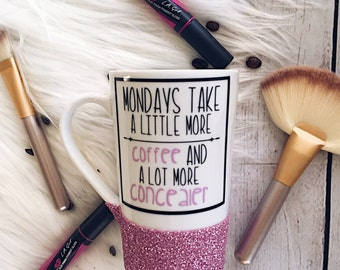 Mondays//Coffee & Concealer//Glitter//Glitter Dipped//Coffee Lover//Makeup