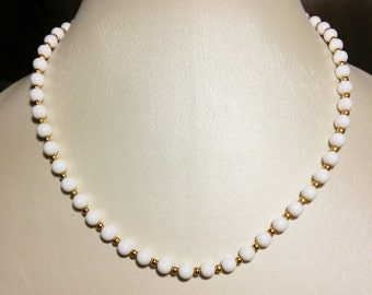 Monet Milk Glass Choker