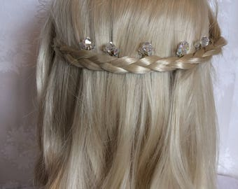 Sophie, crystal design hair pins, set of five. Bobby pins, hair accessories, bride, bridesmaids, flowergirl, occasion, gift.