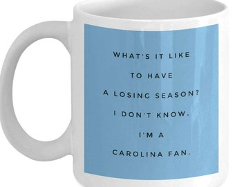 North Carolina UNC Tarheels Coffee Mug - NCAA College Basketball March Madness Tournament - For Carolina Basketball Fans