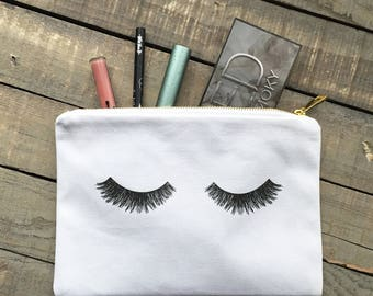 Gifts for her, Lashes Makeup bag Makeup Storage, Cosmetic Bag, Lashes Cosmetic Bag Gift ideas best friend gift, Shower gift, Eyelashes c-16