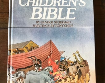 Vintage Illustrated Children's Bible, Vintage Christian Book, 383 Pages, Beautiful Colorful Illustrations, Christian Gift, Dated 1983
