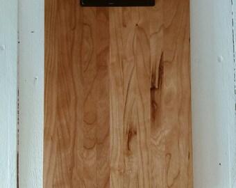 Restaurant Wooden Clipboard Menu Cherry, Large