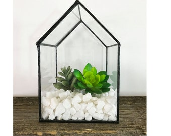 Little House Terrarium, House Terrarium, Glass Terrarium, Small Terrarium, Succulent Planter, Air Plant, Air Plant Terrarium,