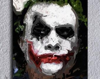 The Joker (Batman Dark Knight) Framed Painting Print