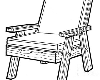 Back Yard Chair #170 - Woodworking / Craft Pattern