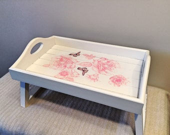 Up-cycled Decoupage Armchair Tray