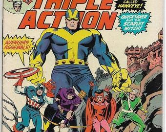 Marvel TRIPLE ACTION #22   reprints Avengers #28
