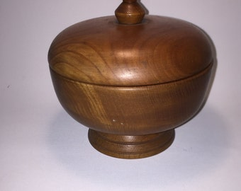 Box made of olive wood, mid century modern, 60 he years