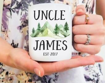 Uncle Mug Personalized   Custom Uncle Mug, New Uncle, Uncle Mug, Personal Uncle Mug, Baby Announcement Mug, Brother Mug, Gifts for Uncles