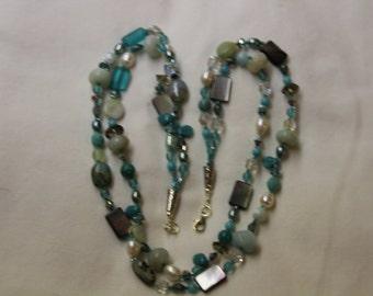 Sea Breeze Mixed Gemstone Necklace