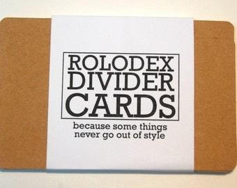 Kraft Rolodex Divider Cards