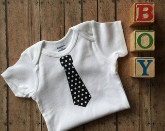 Polka Dot Tie Short Sleeve Infant Bodysuit