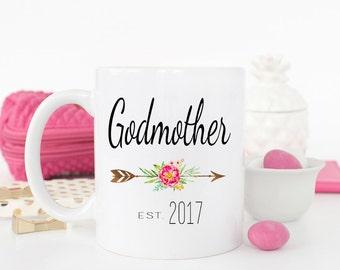 Godmother Gift, Baptism Gift, Christening Gift, Godmother mug, Godmother, gift for godmother, fairy godmother, Gift for godparent Coffee Mug