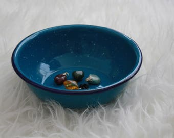 Blue Enamel Dishes set of 2