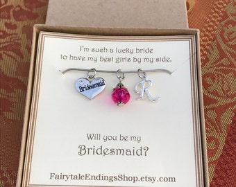 Bridesmaid Necklace - C106 - Will you be my bridesmaid - Bridesmaid Gift - Wedding Party - Wedding Party Gift - Wedding Accessories