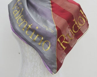 FREE SHIPPING!!! Rudolph Valentino Vintage Rudolph Valentino Made in Japan 100% Silk Scarf