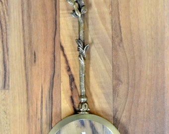 Brass Parrot Magnifying Glass