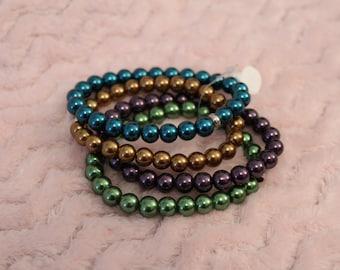 Bracelet. Beaded Bracelet. Stretchy Bracelet. Free Domestic Shipping.