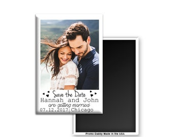 """FREE US SHIPPING Photo Style Save The Date Magnets 2x3"""" Premium Fridge Magnet"""