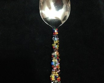 Handmade Beaded Serving Spoon