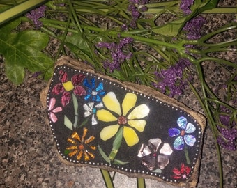 Small Garden Mosaic with Flowers