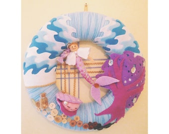 Baby Nursery Under the Sea  Wreath Hanging Decoration