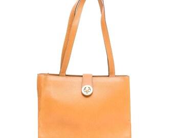 1980s Celine tan leather shoulder bag