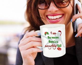 Naughty Christmas Mug - Funny Novelty Mugs -Best for Gifts