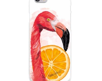 Flamingo Case, Cell Phone Case, iPhone Case, Samsung Galaxy Case, Flamingo Accessories, Birthday Gift, Pink Flamingo, Cell Phone Bag