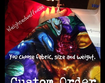 Custom Weighted Blanket, 2 sizes, 3-14 pounds