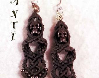 Death head earrings