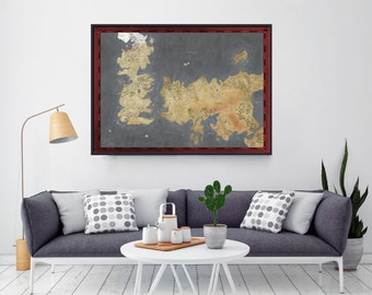 """Shop """"game of thrones map"""" in Art & Collectibles"""